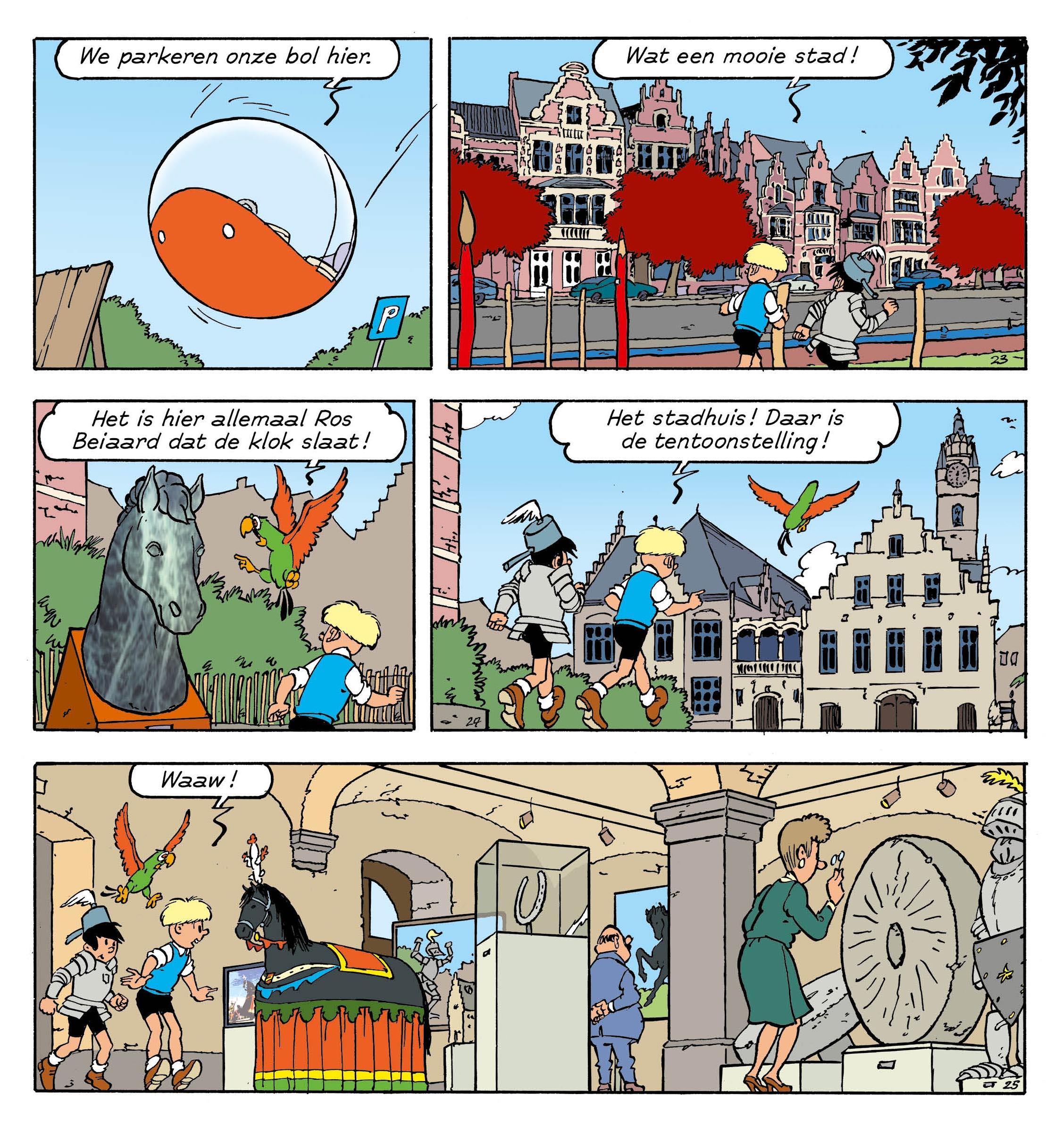 Voorbeeldpagina strip Jommeke